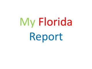 My Florida Report