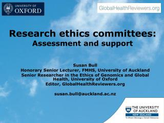 Research ethics committees: Assessment and support