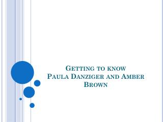 Getting to know Paula  Danziger  and Amber Brown