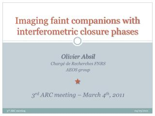 Imaging faint companions with interferometric closure phases