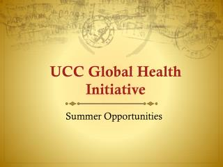 UCC Global Health Initiative