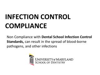 Infection Control Compliance
