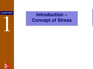 Introduction – Concept of Stress