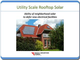 Utility Scale Rooftop Solar