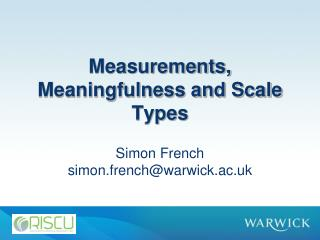 Measurements, Meaningfulness and Scale Types