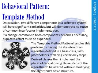 Behavioral Pattern: Template Method