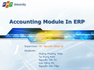 Accounting Module In ERP