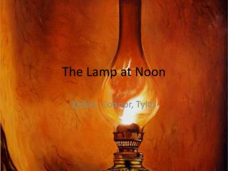 the lamp at noon setting The setting is a crucial element in a story it is used to determine how characters behave, the outcome and plot of the story, and the themes the story revolves around.