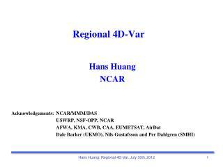 Regional 4D-Var