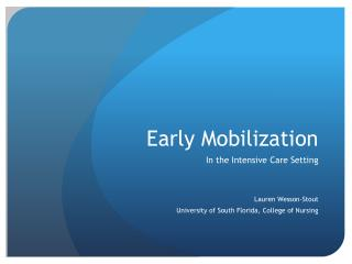 Early Mobilization