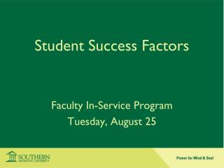 Student Success Factors