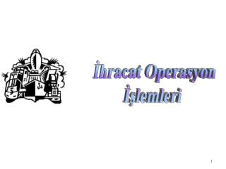 İhracat Operasyon  İşlemleri