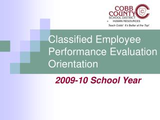 Classified Employee Performance Evaluation Orientation