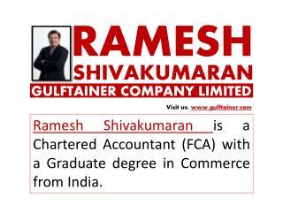 Ramesh Shivakumaran Gulftainer Company Limited