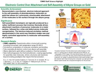 Electronic Control Over Attachment and Self-Assembly of Alkyne Groups on  Gold