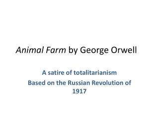 what is animal farm based on