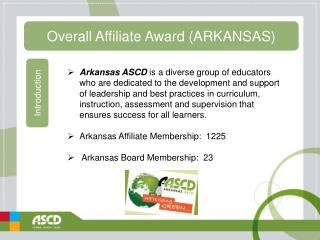 Overall Affiliate Award (ARKANSAS)