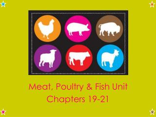 Meat, Poultry & Fish Unit Chapters 19-21