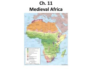 Ch. 11 Medieval Africa