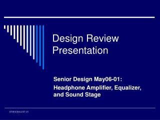 Design Review Presentation