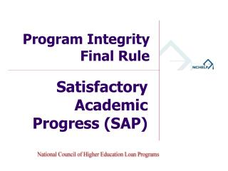 Program Integrity  Final Rule