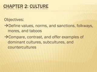 Chapter 2: Culture