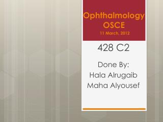 Ophthalmology OSCE