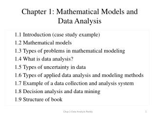 Chapter 1: Mathematical Models and Data Analysis