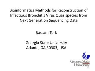 Bassam Tork Georgia  State University Atlanta, GA 30303, USA