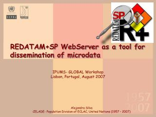 REDATAM+SP WebServer as a tool for dissemination of microdata
