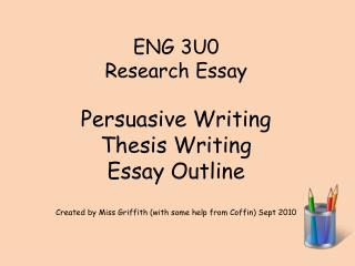 structure of a persuasive essay slideshare