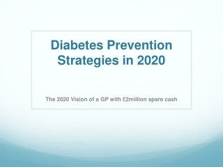 The Need for Diabetes Interventions