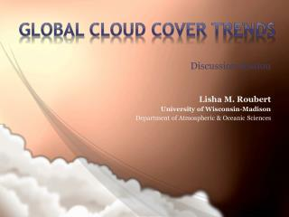 Global Cloud Cover Trends