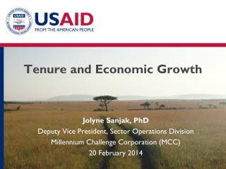 Tenure and Economic Growth