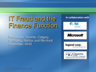 IT Fraud and the Finance Function