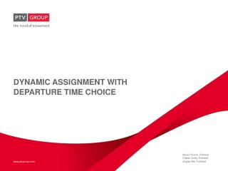 Dynamic assignment with departure time choice