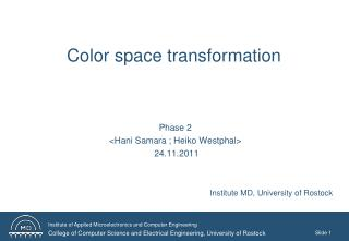 Color  space  transformation