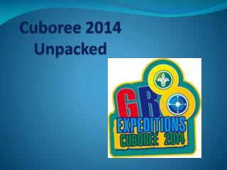 Cuboree 2014 Unpacked