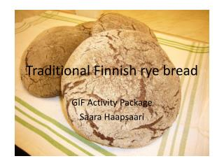 Traditional Finnish rye bread