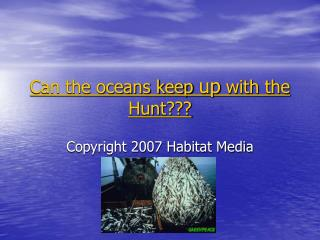 Can the oceans keep  up  with the Hunt???