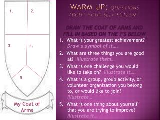 1.  What is your greatest achievement? Draw a symbol of it….