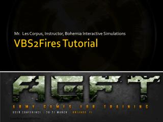 VBS2Fires Tutorial