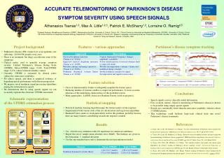 Accurate Telemonitoring  of  parkinson's  disease Symptom severity using speech signals