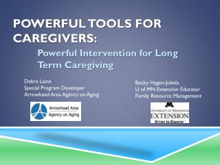 Powerful Tools for Caregivers:
