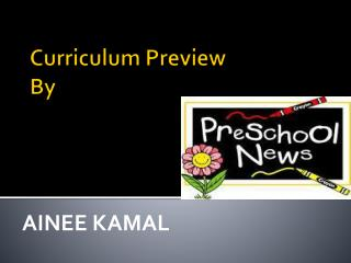 Curriculum Preview By