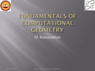 Fundamentals of computational geometry