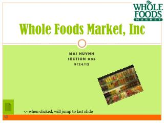 Whole Foods Market, Inc