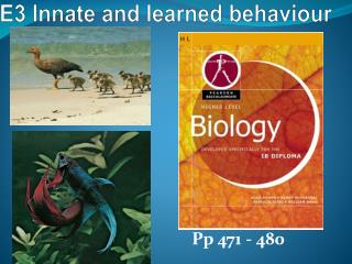 E3 Innate and learned behaviour