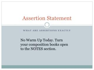 Assertion Statement