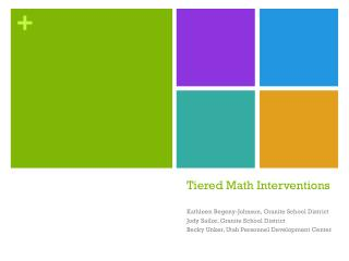 Tiered Math Interventions